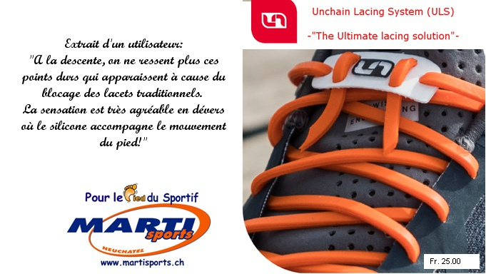 UNCHAIN LACING SYSTEM -